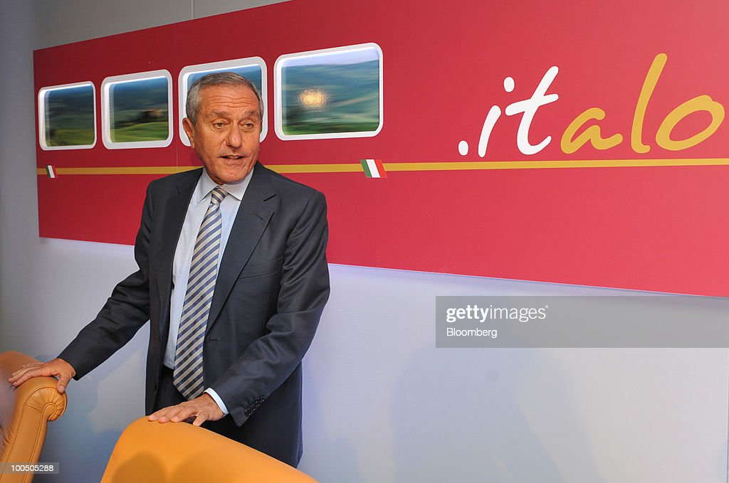Giuseppe Sciarrone, managing director of Nuovo Trasporto Viaggiatori S.p.A. (NTV), arrives for a news conference at the company's headquarters in Rome, Italy, on Tuesday, May 25, 2010. NTV plans to open a rail service in Italy next summer, using high-speed Alstom AGV trains on the same recently-upgraded tracks currently used by Trenitalia SpA. Photographer: Victor Sokolowicz/Bloomberg via Getty Images