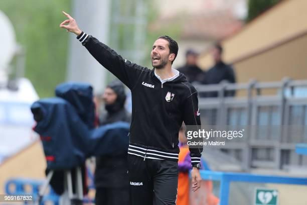 Giuseppe Scurto manager of US Citta' di Palermo U19 gestures during the SuperCoppa primavera 2 match between Novara U19 and US Citta di Palermo U19...