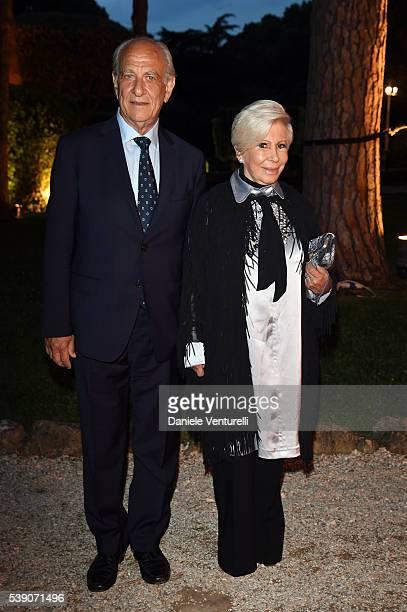 Giuseppe Tedesco and Anna Fendi attend McKim Medal Gala In Rome at Villa Aurelia on June 9 2016 in Rome Italy