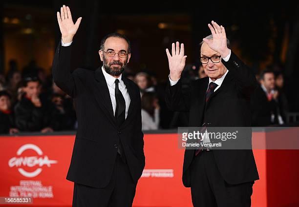 """Giuseppe Tornatore and Ennio Morricone attend the """"Giuseppe Tornatore: Ogni Film Un'Opera Prima"""" Premiere during the 7th Rome Film Festival at the..."""
