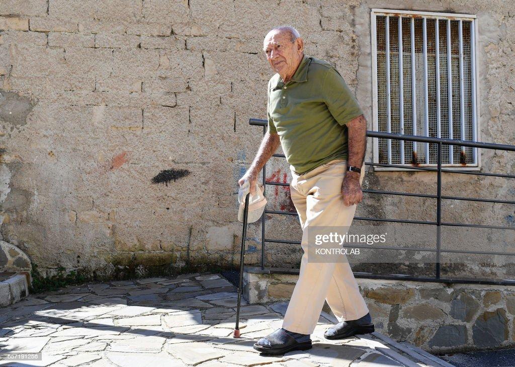 Giuseppe Vassallo, 97, in Acciaroli, southern Italy. : News Photo