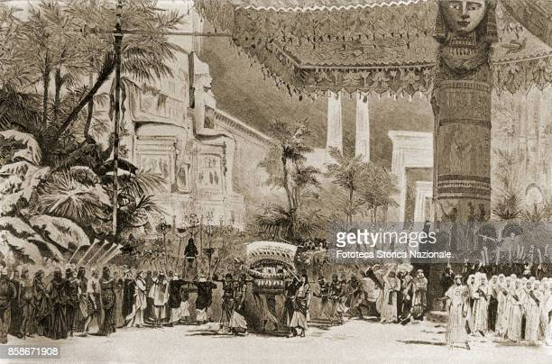 Giuseppe Verdi An Aida scene set up at the Cairo Opera House The theater opened in conjunction with the inauguration of the Suez Canal in 1869 On...
