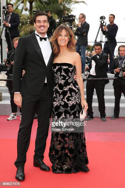 Giuseppe Vicino and Roberta Armani attend the screening of 'Happy As Lazzaro ' during the 71st annual Cannes Film Festival at Palais des Festivals on...