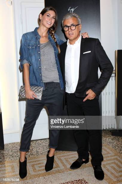 Giuseppe Zanotti and Melissa Satta attend Vicini Presentation as part of Milan Fashion Week Womenswear Spring/Summer 2013 on September 22 2012 in...