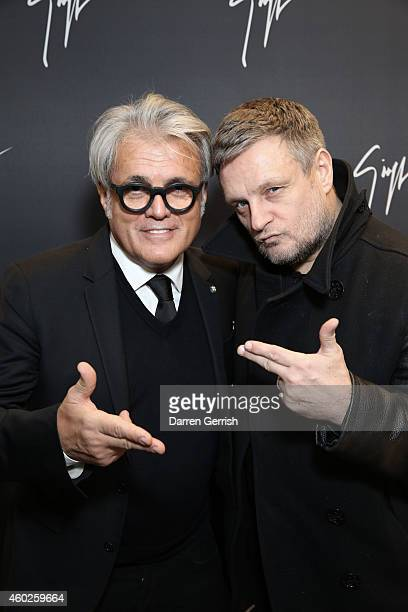 Giuseppe Zanotti and Rankin attends the Guiseppe Zanotti Design Men's Flagship Store launch on December 10 2014 in London England