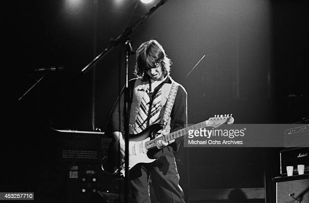 Giutarist Jimmy McCulloch of the rock group Wings performs at the Forum on June 21 1976 in Inglewood California
