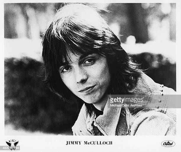 Giutarist Jimmy McCulloch of the rock group Wings poses for a Capitol Records publicity still circa 1976