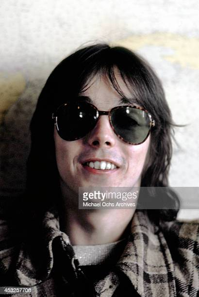 Giutarist Jimmy McCulloch of the rock group Wings poses for a portrait in February 1975 in Los Angeles California