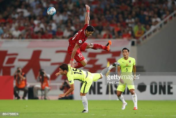 Givanildo Vieira De Sousa in action during theAFC Champions League 2017 Semifinals 1st leg between Shanghai SIPG and Urawa Red Diamonds at Shanghai...