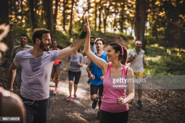 give me high-five, great race! - practicing stock pictures, royalty-free photos & images