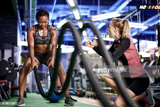 give me one more! - black female bodybuilder stock photos and pictures