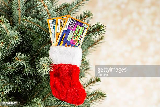give the gift of lottery scratch cards - lottery ticket stock pictures, royalty-free photos & images