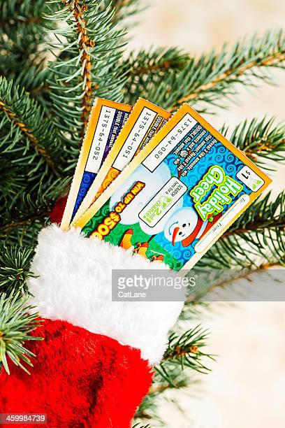 give the gift of lottery tickets - lottery ticket stock pictures, royalty-free photos & images
