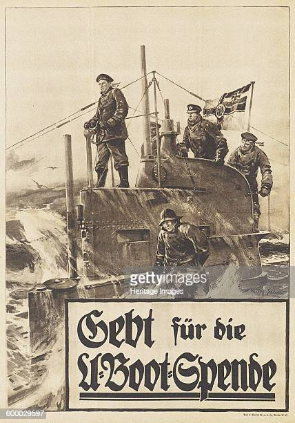 Give to the Submarine Donation Poster 1917 Found in the collection of Deutsches Historisches Museum Artist Stöwer Willy