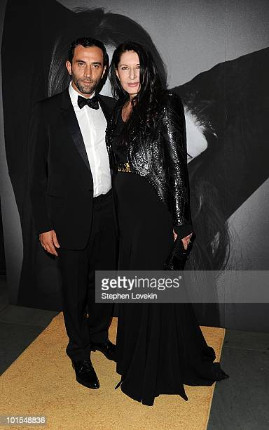 Givenchy artistic director Riccardo Tisci and artist Marina Abramovic attend the closing of Marina Abramovic's 'The Artist is Present' hosted by...