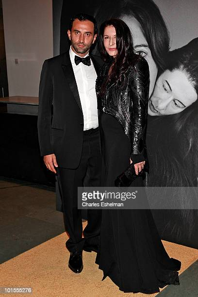 "Givenchy chief designer, Riccardo Tisci and artist Marina Abramovic attends the closing of Marina Abramovic's ""The Artist is Present"" hosted by..."