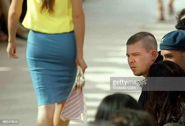 Givenchy fashion designer Alexander Mac Queen is seen at the presentation of the Louis Vuitton Spring/Summer 2000 readytowear collection designed by...