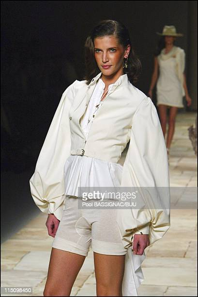 Givenchy spring-summer 2004 ready-to-wear collection in Paris, France on October 11, 2003.