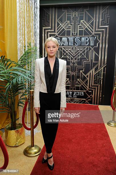 """Gives a """"Great Gatsby"""" welcome to actress Carey Mulligan on GOOD MORNING AMERICA, airing on the Walt Disney Television via Getty Images Television..."""