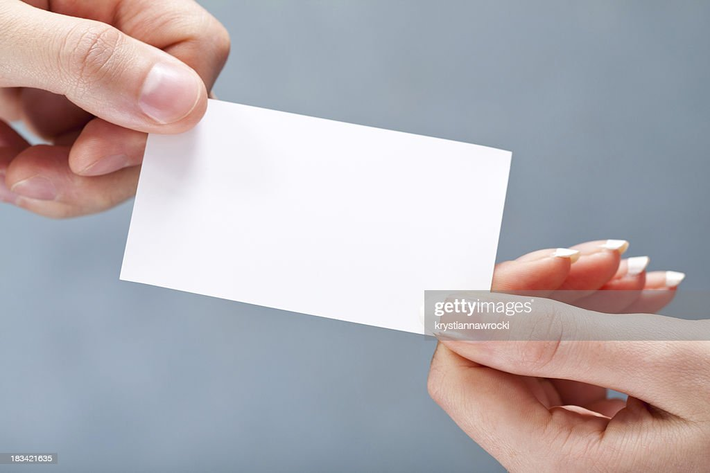 Giving Blank Business Card Stock Photo | Getty Images