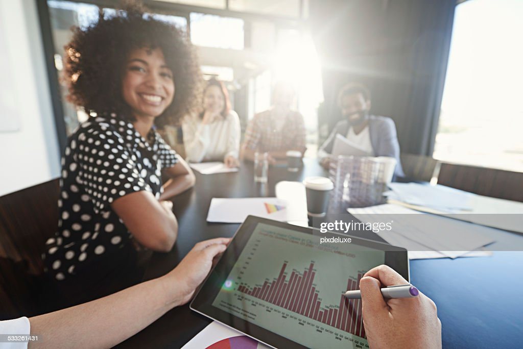 Giving feedback to the team : Stock Photo