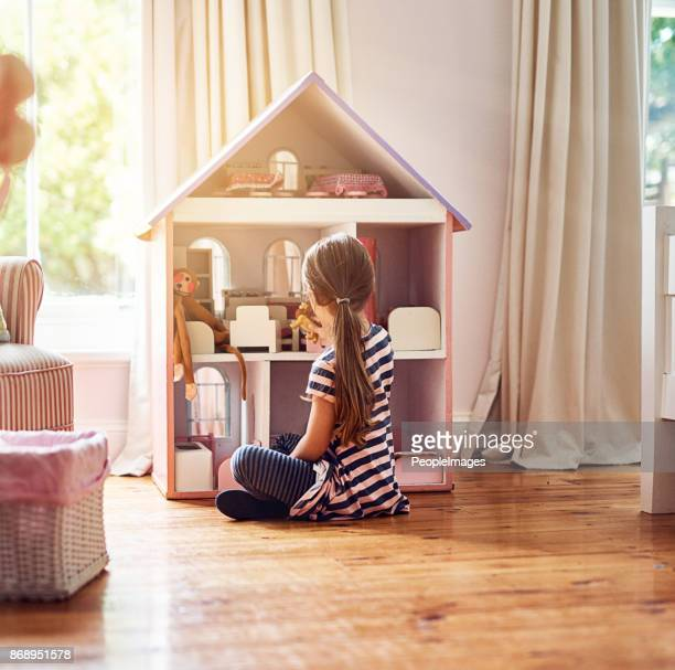 Giving her dolls a place to call home
