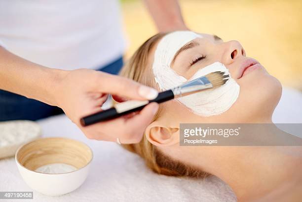 Giving her skin the special treatment