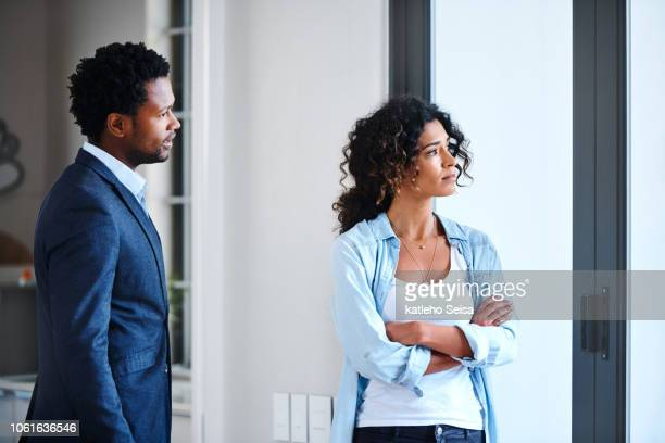 giving him the silent treatment - relationship breakup stock pictures, royalty-free photos & images