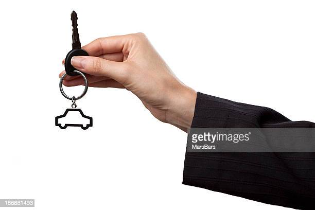 Giving new car keys, isolated