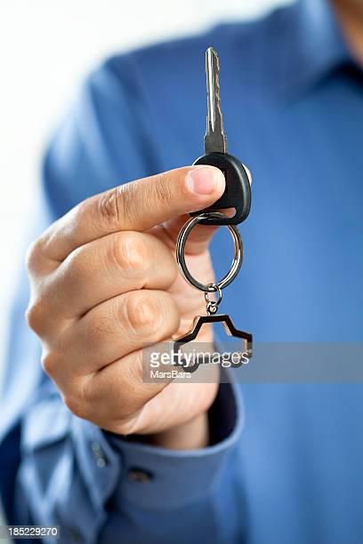 Giving new car keys