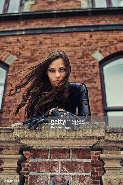giving you a piercing gaze - femme fatale stock photos and pictures