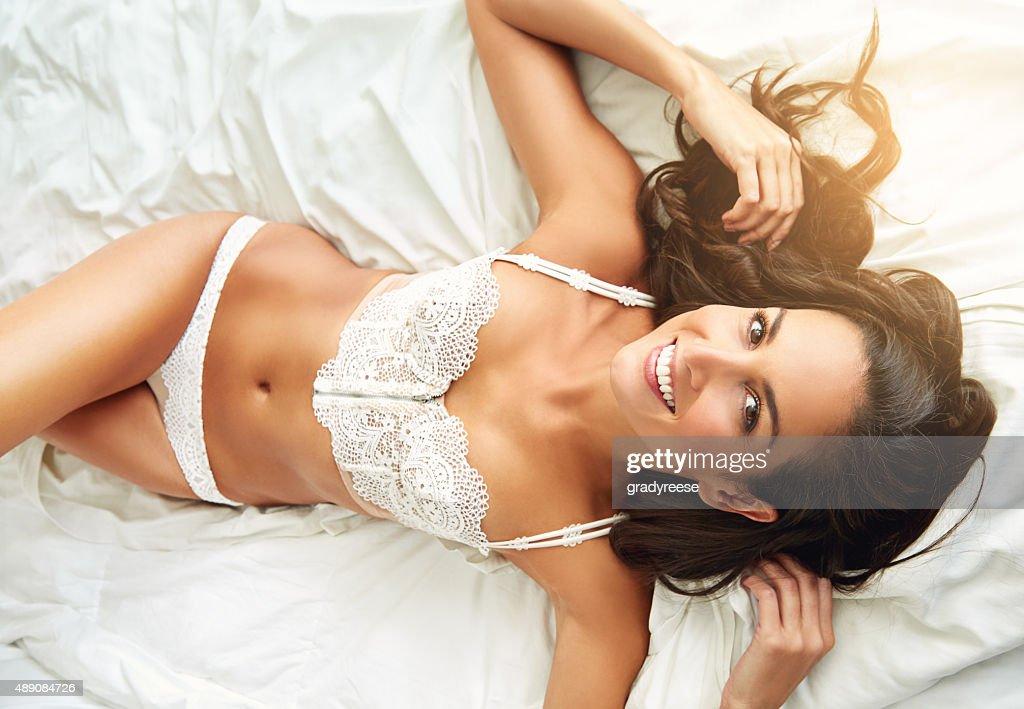 Giving you a sexy smile : Stock Photo