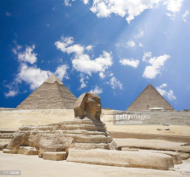 giza pyramids - the sphinx stock pictures, royalty-free photos & images