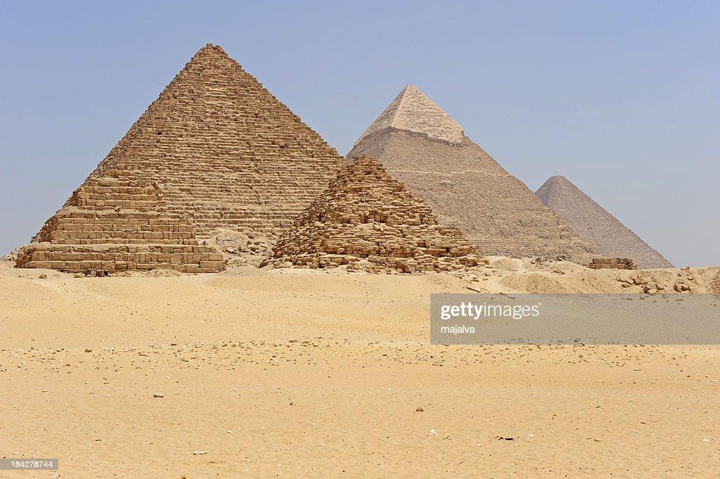 Giza pyramids : Stock Photo