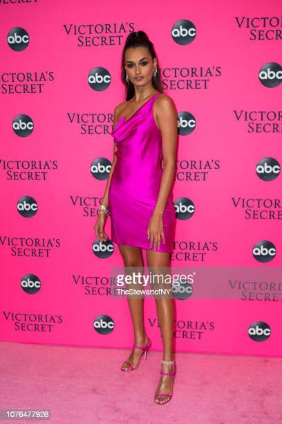 Gizele Oliveira attends the 2018 Victoria's Secret Fashion Show viewing party at Spring Studios on December 02 2018 in New York City