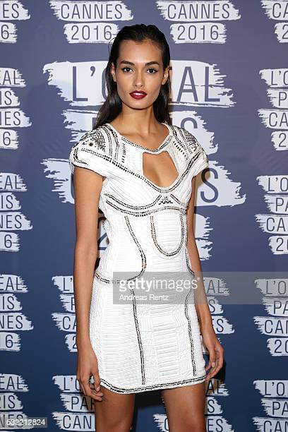 Gizele Oliveira attends the L'Oreal Party during the annual 69th Cannes Film Festival at on May 18 2016 in Cannes France