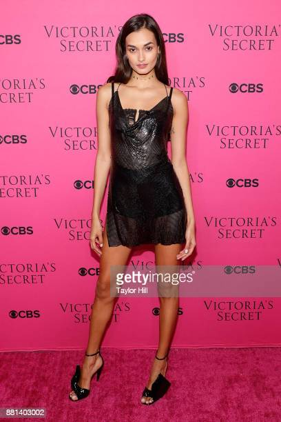 Gizele Oliveira attends the Victoria's Secret Viewing Party Pink Carpet celebrating the 2017 Victoria's Secret Fashion Show in Shanghai at Spring...