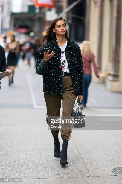 Gizele Oliveira is seen in SoHo on September 21 2018 in New York City