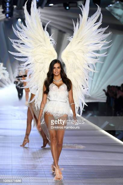 Gizele Oliveira walks the runway during the 2018 Victoria's Secret Fashion Show at Pier 94 on November 8 2018 in New York City