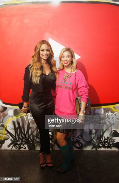 Gizelle Bryant and Erika Liles attend YouTube brings the BOOM BAP BACK to New York City With Lyor Cohen Nas Grandmaster Flash QTip Chuck D and Fab 5...