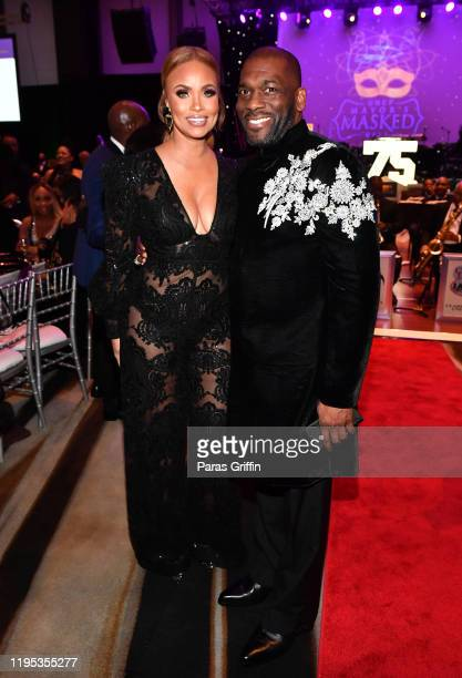 Gizelle Bryant and Jamal H Bryant attend 36th Annual Atlanta UNCF Mayor's Masked Ball at Atlanta Marriott Marquis on December 21 2019 in Atlanta...
