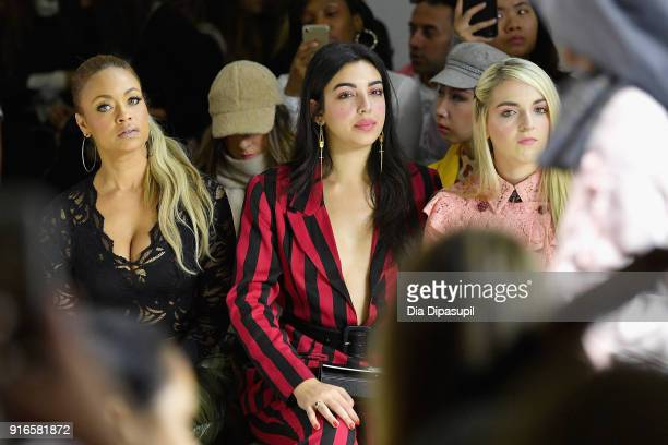 Gizelle Bryant and Rydel Lynch attend the Dan Liu fashion show during New York Fashion Week The Shows at Gallery II at Spring Studios on February 10...