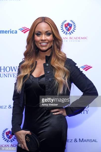 Gizelle Bryant attends La La Anthony's PreGrammy Party Presented by Howard University on January 26 2018 in New York City