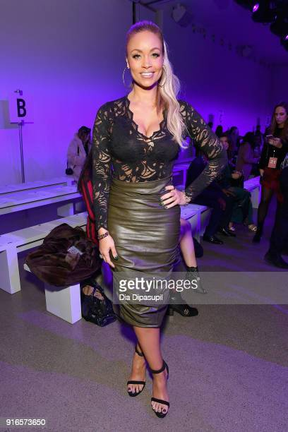 Gizelle Bryant attends the Dan Liu fashion show during New York Fashion Week The Shows at Gallery II at Spring Studios on February 10 2018 in New...
