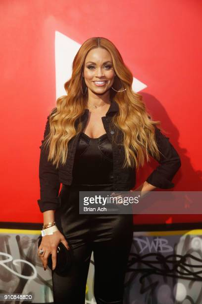 Gizelle Bryant attends YouTube brings the BOOM BAP BACK to New York City With Lyor Cohen Nas Grandmaster Flash QTip Chuck D and Fab 5 Freddy on...