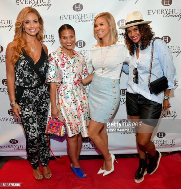 Gizelle Bryant Terrinee L Gundy Erika Liles and Iman Ramadan attend EveryHue PopUp shop at Swagg Boutique on July 13 2017 in Atlanta Georgia