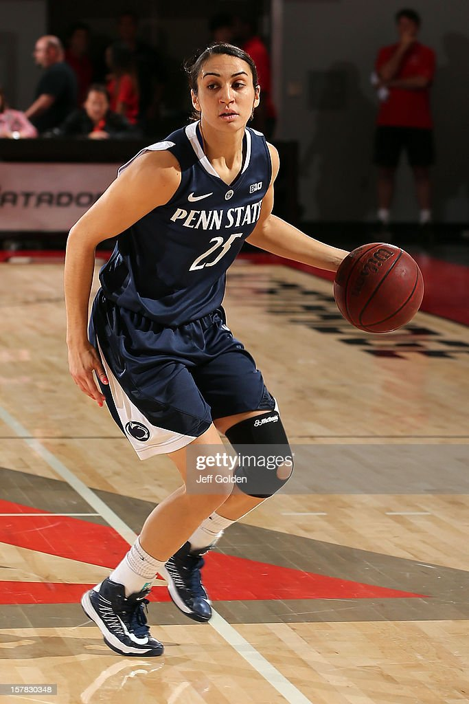 Gizelle Studevent #25 of the Penn State Lady Lions dribbles against the Northridge Matadors at The Matadome on November 24, 2012 in Northridge, California. Penn State won 85-73.