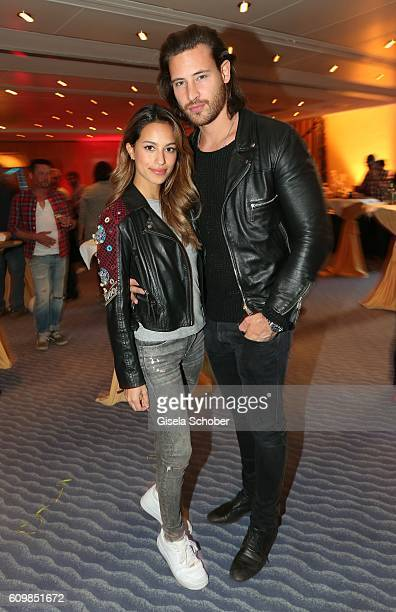 Gizem Emre and her boyfriend Marc Eggers during the surprise party for Erdogan Atalay's 50th birthday at Hotel Arkona on September 22 2016 in Binz...