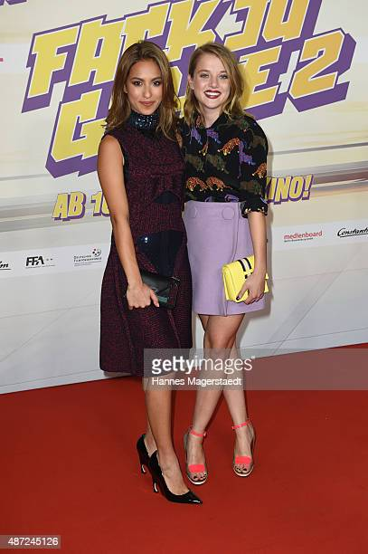 Gizem Emre and Jella Haase attend the 'Fack ju Goehte 2' Munich Premiere at Mathaeser Filmpalast on September 7 2015 in Munich Germany