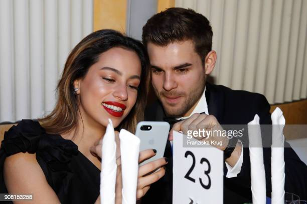 Gizem Emre and Lucas Reiber during the German Film Ball 2018 at Hotel Bayerischer Hof on January 20 2018 in Munich Germany